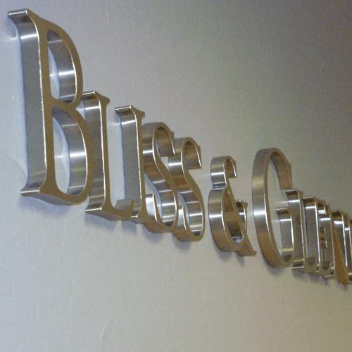 Несветовые вывески из металла