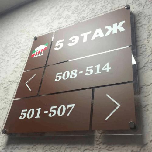 Информационные таблички-указатели