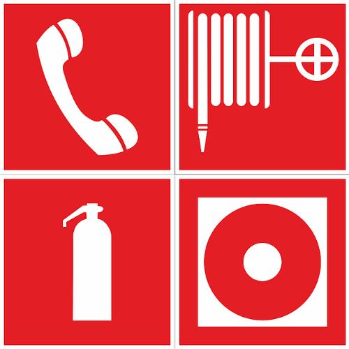Пожарные информационные таблички