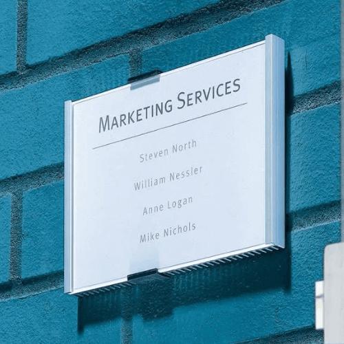 Информационная табличка организации Marketing Services