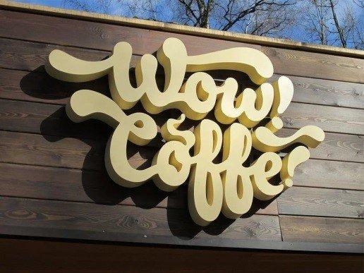 Объемная вывеска для кофейни