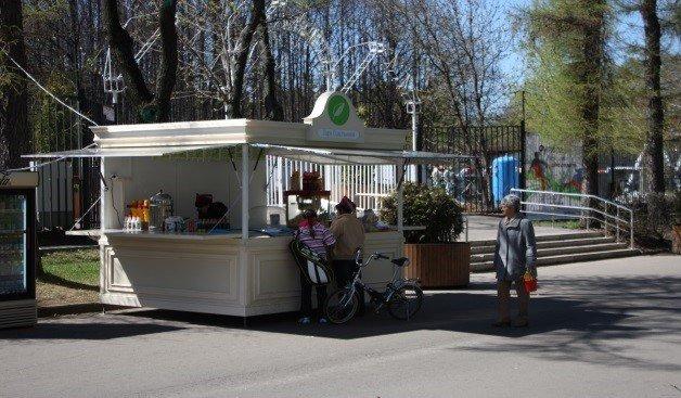 Фото торгового лотка для мороженого