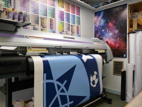 Процесс печати на баннере