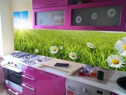 Самоклейка с печатью на кухне