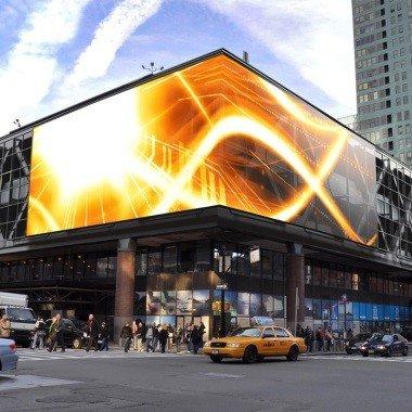 Размещение рекламы на фасад здания